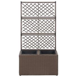 image-Newsome Rattan Planter Box with Trellis Freeport Park
