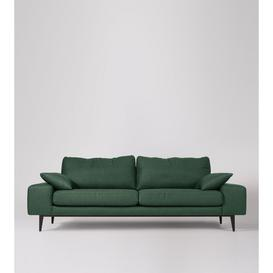 image-Swoon Tulum Three-Seater Sofa in Hunter Smartwool With Dark Feet
