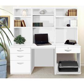 image-Walshaw Writing Desk Ebern Designs Colour: White