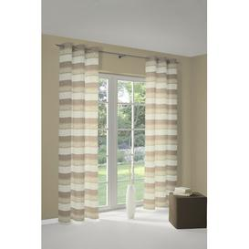 image-Menorca Eyelet Blackout Curtain Ebern Designs Colour: Creme, Panel Size: 132 W x 245 D cm