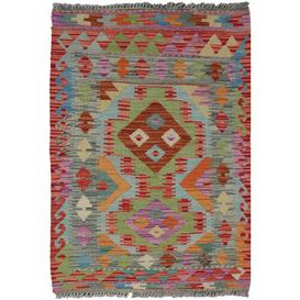image-Deans Traditional Handmade Kilim Wool Red Rug Bloomsbury Market