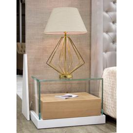 image-Blondene 1 Drawer Bedside Table Metro Lane