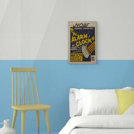 image-WPA the Alarm Clock Vintage Advertisement on Canvas East Urban Home Size: 60cm H x 40cm W