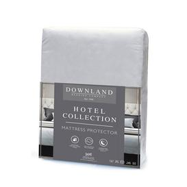 image-Downland Hotel Collection Stripe Mattress Protector