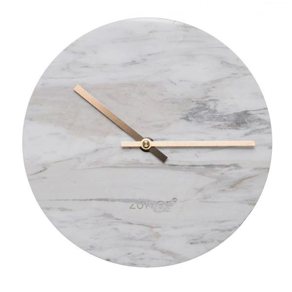 image-Zuiver Clock Marble Time White