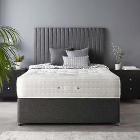 image-Soho Divan Tweed Catherine Lansfield Size: Double (4'6), Colour: Charcoal, Storage Type: No Drawer
