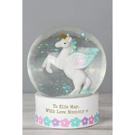 image-Personalised Unicorn Snow Globe