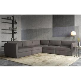 image-Cloud - Modular Corner Sofa - Dark Grey Velvet