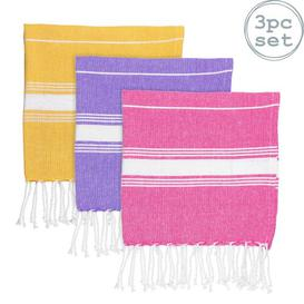 image-3 Piece Quick Dry Beach Towel Same-Size Bale