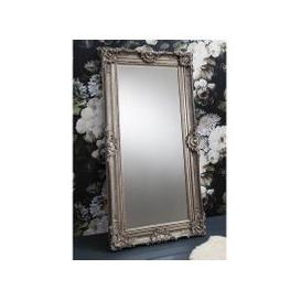 image-Valley Floor Mirror Rectangular Leaner In Antique Silver