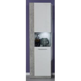image-Zunaira Standard Display Cabinet Mercury Row Colour: White/Concrete
