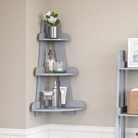 image-Tuskahoma 39.37cm x 65.41cm Bathroom Shelf Blue Elephant Finish: Grey