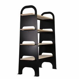 image-Ortiz Bookcase Williston Forge Colour: Black