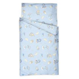 image-Coley Cot Sheets Isabelle & Max Colour: Azur