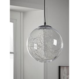 image-NEW Indoor Outdoor Silver Wire Light Pendant - Large