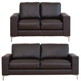 image-Frankie 2 Piece Sofa Set Mercury Row Upholstery Colour: Brown