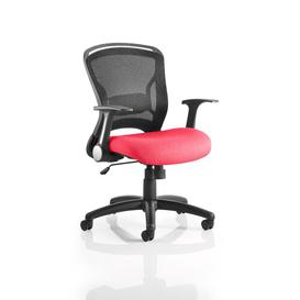 image-Mid-Back Mesh Desk Chair Symple Stuff Colour: Flame