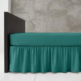 image-Block 144 Thread Count Valance Marlow Home Co. Bed Size: King (5'), Colour: Deep Teal