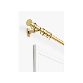 image-John Lewis & Partners Made to Measure Revolution Curtain Pole with Rings and Disc Finials, Wall / Ceiling Fix, Dia.30mm
