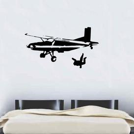 image-Sky Diving Wall Sticker East Urban Home Colour: Light Blue, Size: Large
