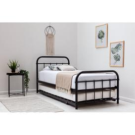 image-Tonquin Daybed with Trundle Borough Wharf Colour: Black, Mattress Included: 12cm Memory Foam/25cm Pocket Sprung Memory Foam