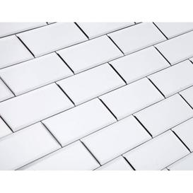 image-Maison Reproductions Mirror Wall Tiles / White / Rectangular