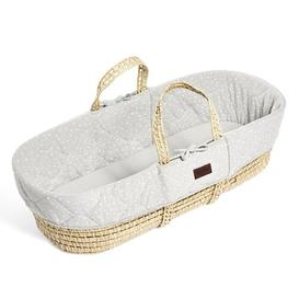 image-Printed Quilted Moses Basket The Little Green Sheep Colour: Dove
