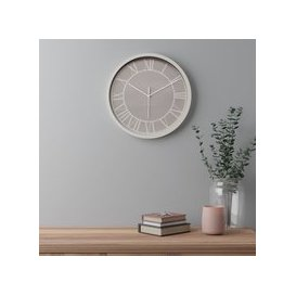 image-Contemporary 38.5cm Wall Clock Taupe Taupe