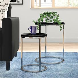 image-Donna 2 Piece Nest of Tables Zipcode Design Top Colour: Black
