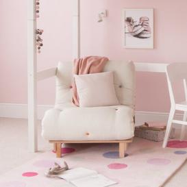 image-1 Seater Futon Chair Little Folks Furniture Upholstery Colour: Cream