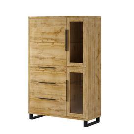 image-Erik 3 Door 3 Drawer Display Cabinet Union Rustic