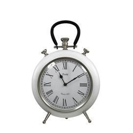 image-Table Clock Marlow Home Co. Coating: White/Black