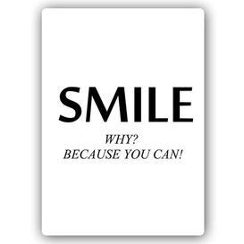 image-'Cover Smile' - Typography Print on Metal Happy Larry Size: 40cm H x 30cm W x 1cm D