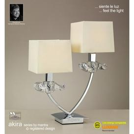 image-M0790PC/CS Akira Chrome 2Lt Table Lamp With Cream Shades