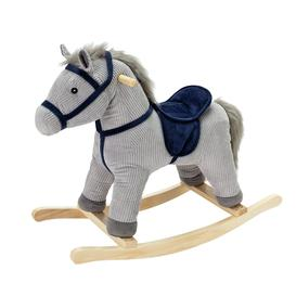 image-Chad Valley Grey and Blue Cord Rocking Horse