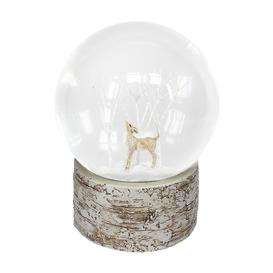 image-Gisela Graham - Deer & Bird Snow Globe