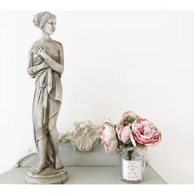 image-Aphrodite Statue - Distressed Stone Colour Female Figure Sculpture