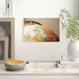 image-Globe World Map Photographic Print on Canvas Big Box Art Size: 40cm H x 60cm W