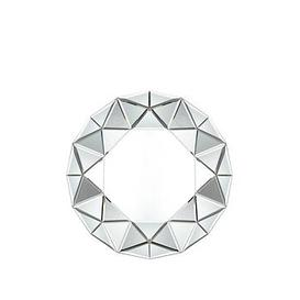 image-Gallery Round Faceted Mirror
