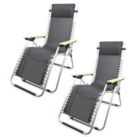 image-Brea Folding Zero Gravity Chair Sol 72 Outdoor Colour (Fabric): Grey