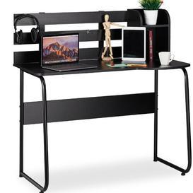 image-Standridge Writing Desk Mercury Row Tabletop/Frame colour: Black