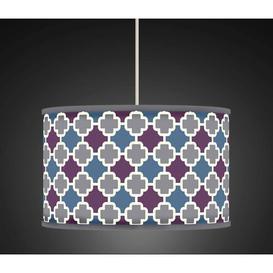 image-Polyester Drum Shade Fairmont Park Colour: Grey, Size: 20cm H x 30cm W x 30cm D, Type: Ceiling/Wall
