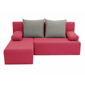 image-Pagoda Corner Sofa Bed Latitude Run Upholstery: Pink/Grey