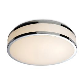 image-Firstlight 8342 Atlantis LED Flush Bathroom Ceiling Light with Chrome