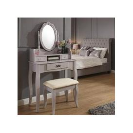 image-Prestige Contemporary Dressing Table Set In Grey