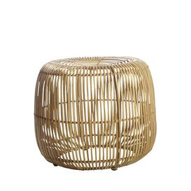 image-Modern Pouf - / Rattan - Ø 52 x H 46 cm by House Doctor Natural wood