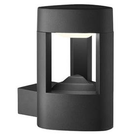 image-Searchlight 2005GY 1 Light Outdoor Wall Light With Clear Diffuser In Grey