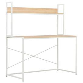 image-Abbington Computer Desk Mercury Row Colour: White and oak