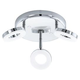 image-Eglo 94762 Gonaro 3 Light Round Bathroom Ceiling Spotlight In Chrome And White