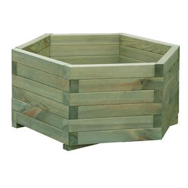 image-Wooden Planter Box (Set of 3) Freeport Park Colour: Green Ombre, Size: 30 cm H x 100 cm W x 50 cm D